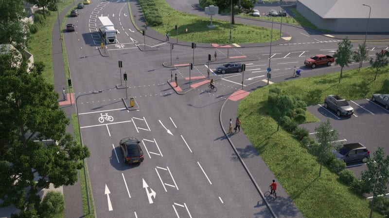 New junction: computer generated image of the proposed junction layout design