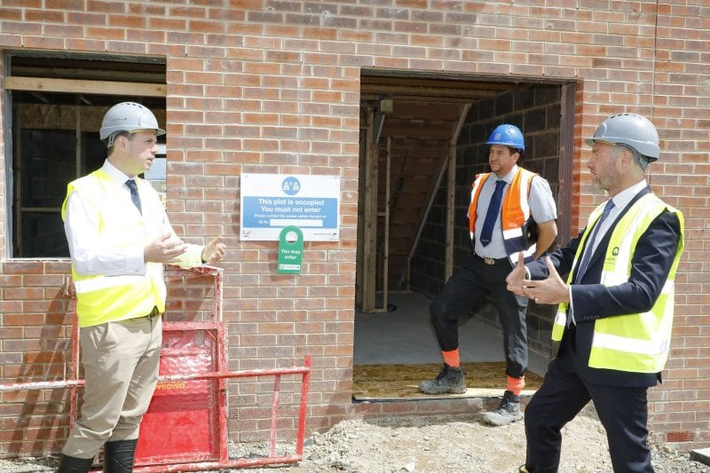 The Buckingham MP was shown around a stock plot at Kingswood in Aylesbury