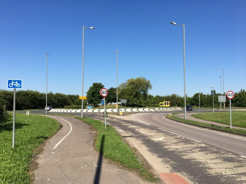 Woodlands roundabout: road investigation work starts on the A41 on Monday 3 August