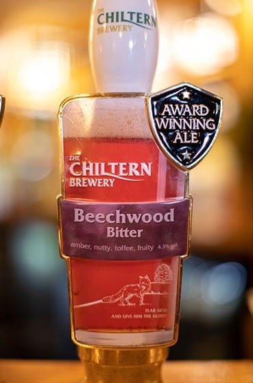 Just one of the local beers available from the brewery