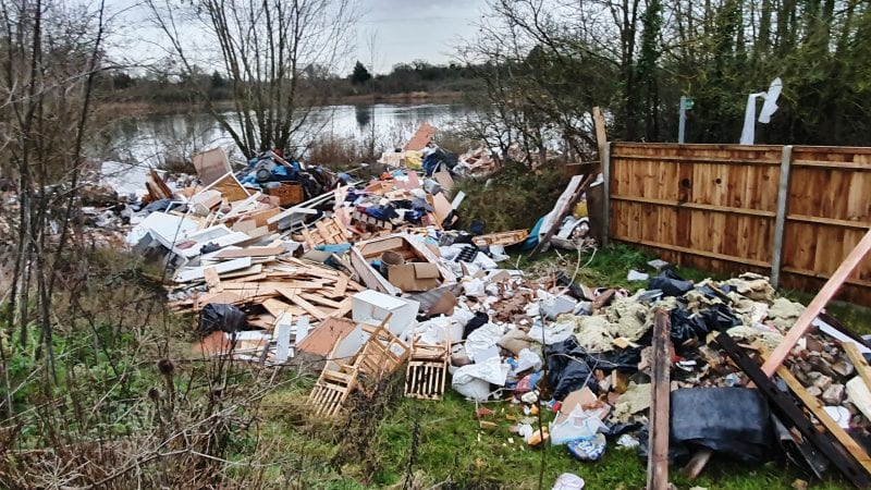 Lakeside flytipping: some of the waste tipped in the Colne Valley Regional Park