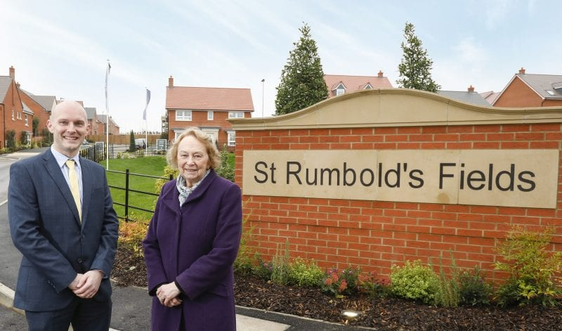 St Rumbold's Fields Official VIP launch - LtoR Simon Francis (MD at BDWNT) and Cllr Carole Paternoster