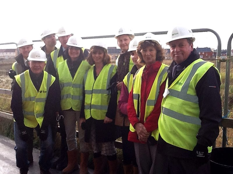 Team on site: Steve (far right) with team colleagues after an inspection of a school building project