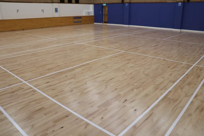 The new sports hall floor