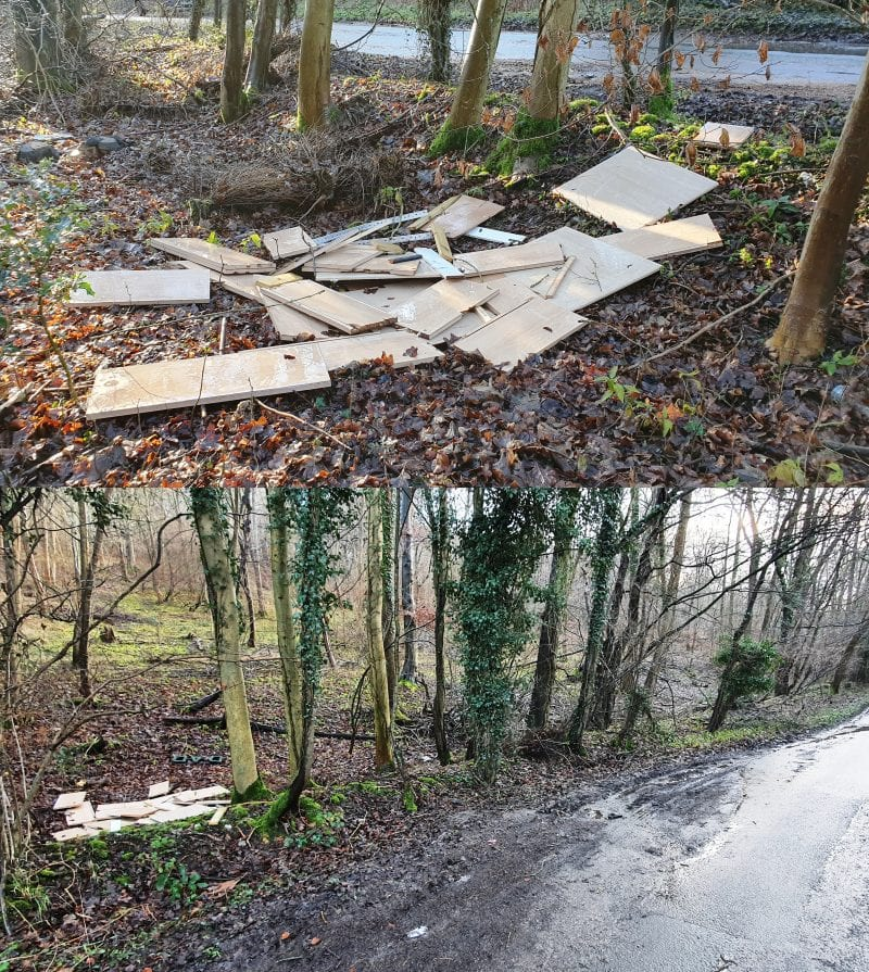 One of the loads fly tipped by the couple at Winchbottom Lane
