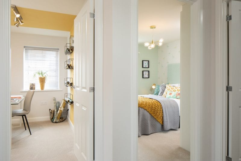 Study and bedroom side by side in a Barratt property