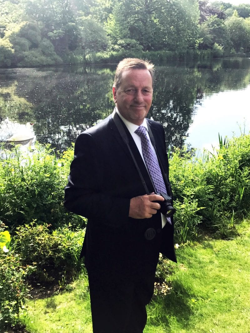 Steve Nicholls: memorable moment by the lake in the gardens of Buckingham Palace at the Queen's Garden Party