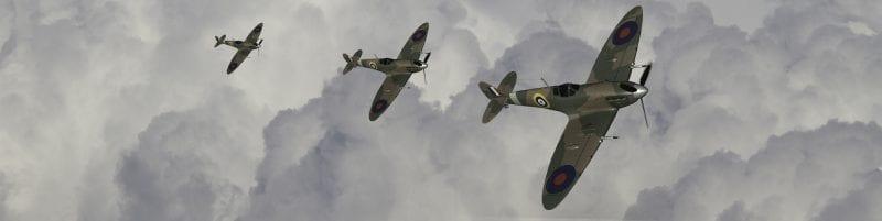 Spitfires, image courtesy shutterstock