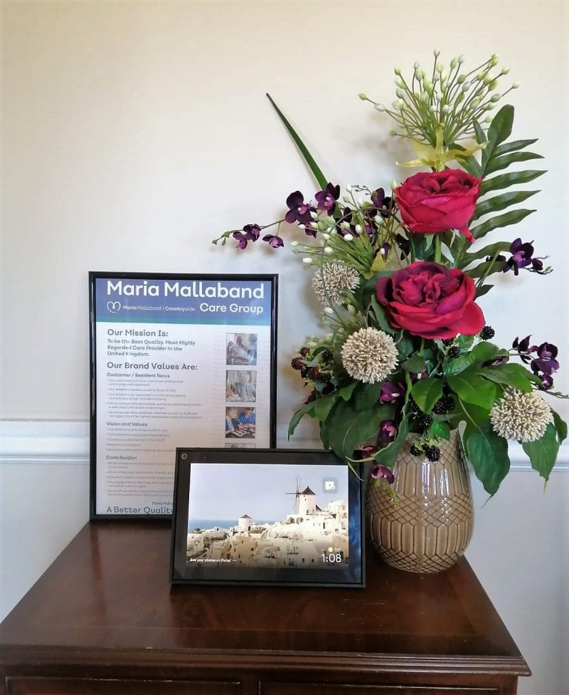 The Facebook Portal at Kents Hill Care Home Ready for Residents to Use. Photos courtesy David Wilson Homes South Midlands.