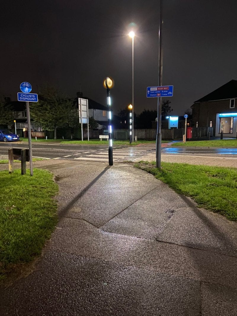 After : Weedon Road near the Gatehouse Roundabout, Aylesbury