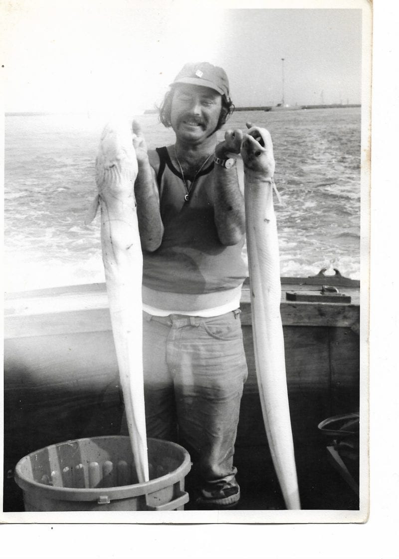 Conger eels from a sea-fishing trip