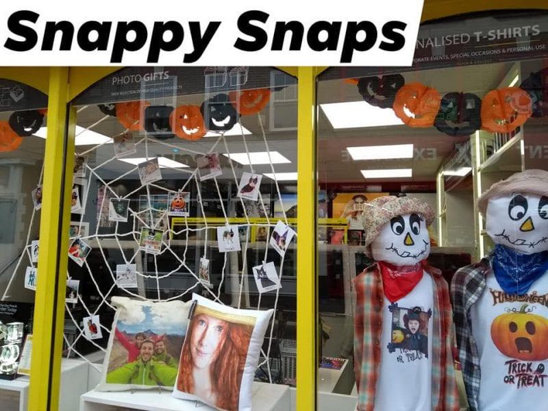 Aylesbury's Snappy Snaps Halloween window display