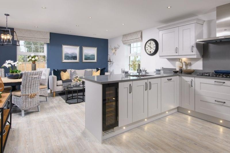 Woburn Downs Moreton show home kitchen area