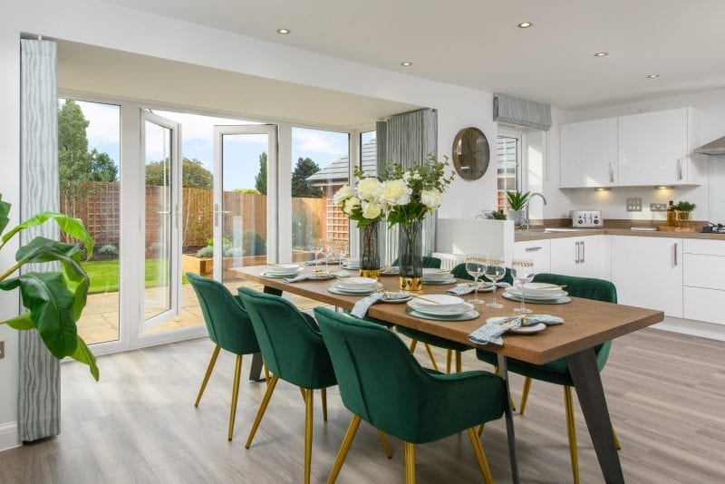 Woburn Downs Holden show home dining area
