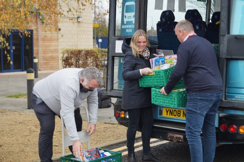 Special delivery! (l-r) Cllr Ashley Waite, community volunteer Ali Siddle and Cllr Paul Irwin unload gift donations at The Gateway