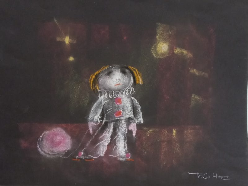 Tiger, Moonlit Harbour and Little Clown all by Tony Hart