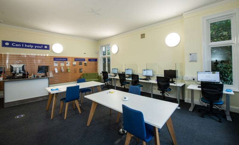 Marlow Library Computer area