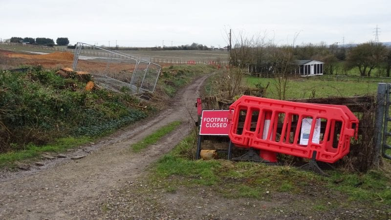 Vegetation has already been removed along the road leading to the Ellesborough Road ground