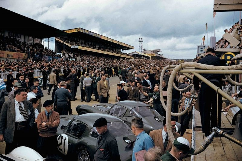DB3S Coupes in period at Le Mans courtesy Douglas Loveridge Publications