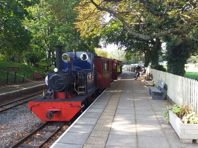 A cleaner attends to a train at Page's Park - credit Rocky Lancer