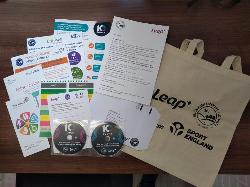 The Home Wellbeing Pack contents