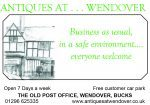 Antiques at . . . Wendover