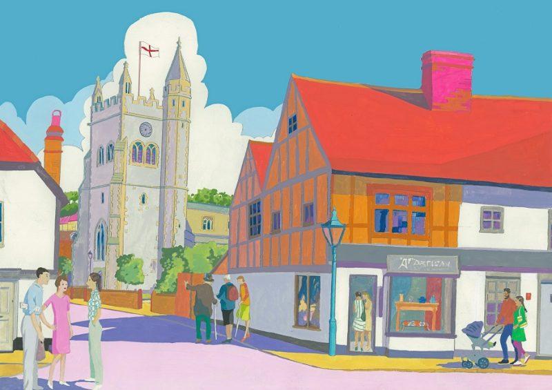 'Church Street, Old Amersham' by Mary Casserley
