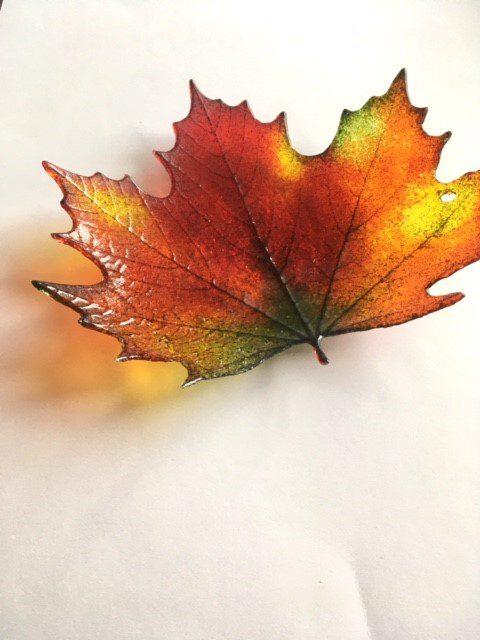 Maple Leaf Bowl by Reiko Ralph