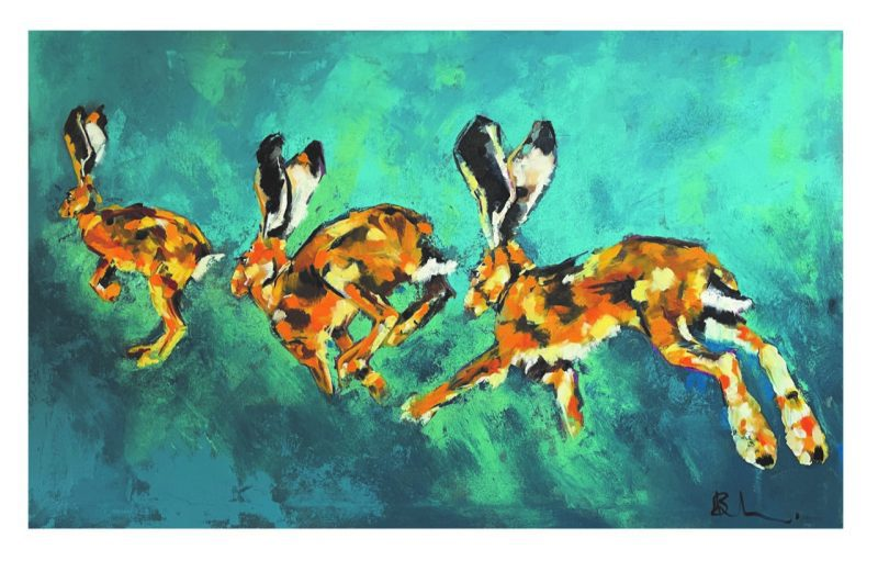'Running Hare' by Niki Bell