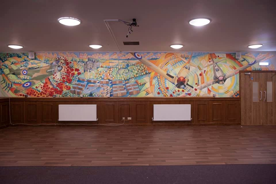 Warrant Officer and Sergeant's Mess (WOSM) Anteroom Mural