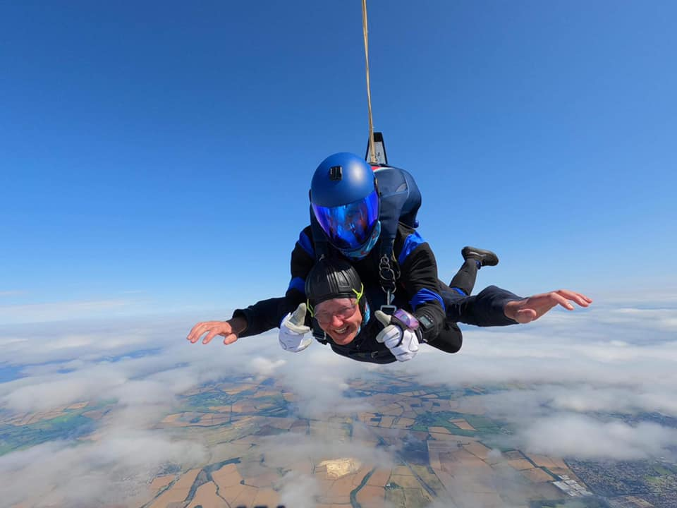 Gp Captain Startup on his skydive