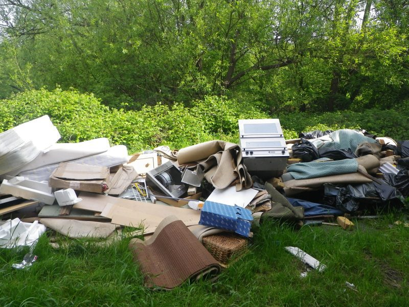 Fly-tipped rubbish in Buckinghamshire