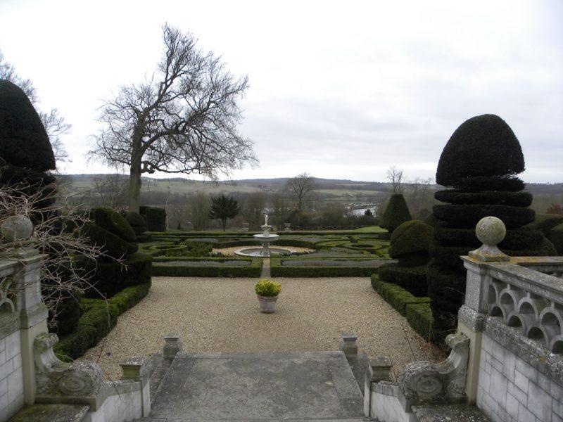Formal gardens at Danesfield House, Medmenham