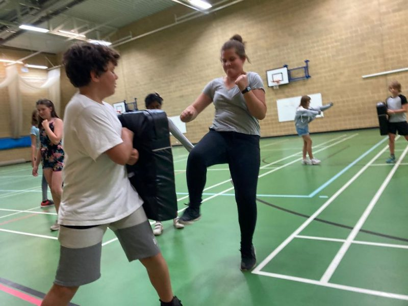 Children enjoying activities at two of the Buckinghamshire summer HAF clubs