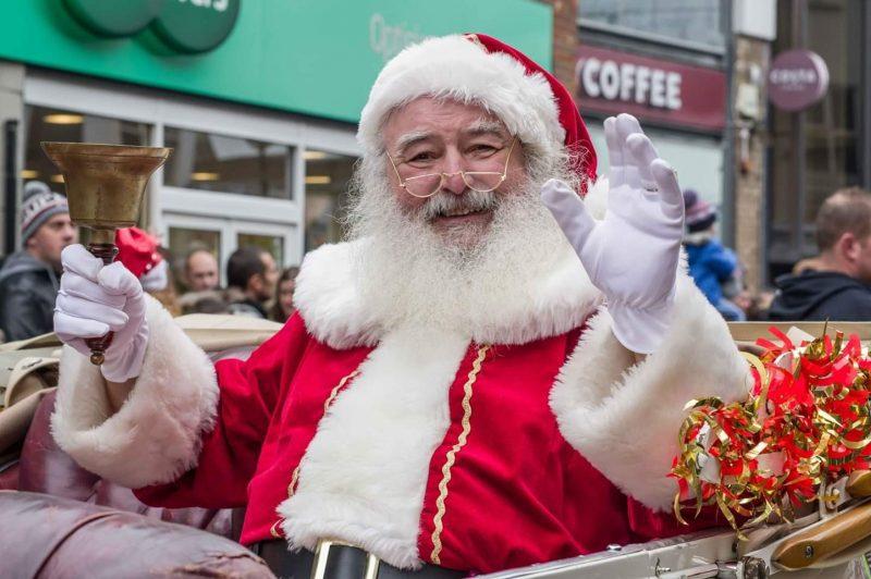 Images from a previous Santa Parade.