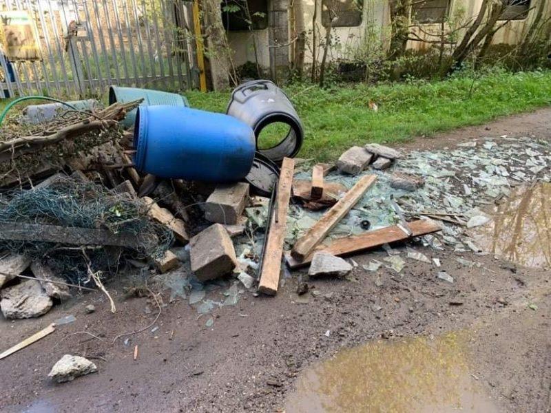 Illegal waste dumped in St Leonards